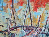 Industrie, Hafen, Malerei, Hamburg