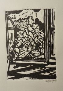 Taube, Fenster, Jahreszeiten, Baum