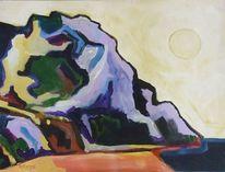 Strand, Malerei, Ocker, Landschaft