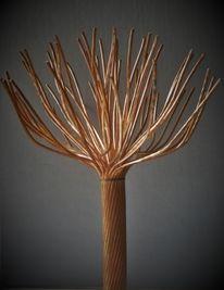 Kahl, Wegegabelung, Skulptur, Stamm