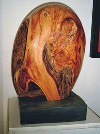 Skulptur, Hocken, Männlich, Holzskulptur