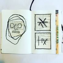 Mystik, Malerei, Symbol, Mischtechnik