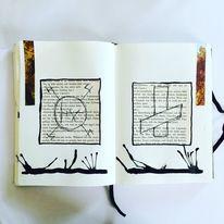 Malerei, Mischtechnik, Surreal, Mystik