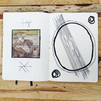 Malerei, Symbol, Mischtechnik, Surreal