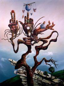 Darstellung, Miteinander, Gegeneinander, Baum