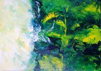 Urwald, Malerei, Spachtel