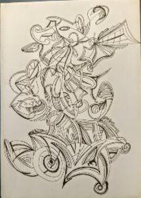 Zeichnung, Surreal, Schwungvoll, Zeichnungen
