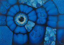 Abstrakte malerei, Blau, Tropfen, Meer
