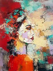 Moderne malerei, Acrylmalerei, Zeitgenössische kunst, Portrait