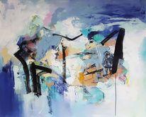 Zeitgenössische kunst, Moderne malerei, Acrylmalerei, Zeitgenössische malerei