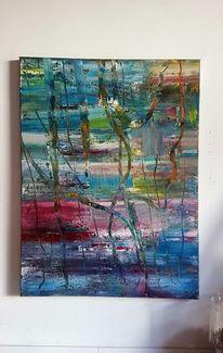 Zeitgenössische malerei, Ölmalerei, Abstrakte kunst, Gemälde abstrakt
