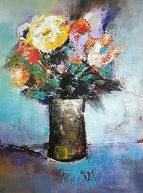 Abstrakte malerei, Abstrakte kunst, Gemälde abstrakt, Acrylmalerei