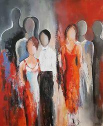 Menschen, Abstrakte malerei, Abstrakte kunst, Gemälde