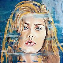 Acrylmalerei, Porträtmalerei, Gesicht, Malerei