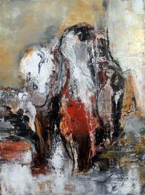 Gemälde, Braun, Abstrakte kunst, Gelb