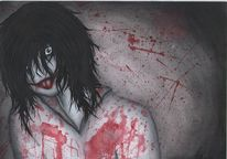 Zeichnung, Jeff the killer, Creepypasta, Manga
