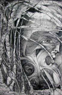 Zeichnung, Surreal, Fantasiewesen, Visionär