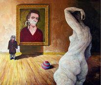 Selbstportrait, Surreal, Figural, Acrylmalerei