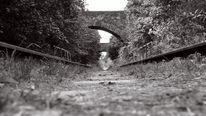 Vergangenheit, Brücke, Schwarz weiß, Zug
