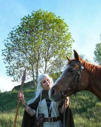Elfen, Baum, Fantasie, Pferde