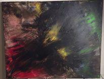 Abstrakt, Wolf, Rot schwarz, Gelb