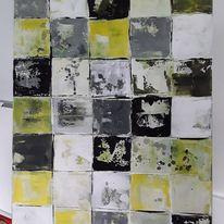 Grau, Abstrakte malerei, Geometrie, Grün