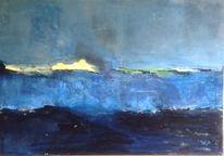 Abstrakt, Wasser, Blau, Malerei