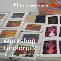Werkstatt, Linolschnitt, Kunstworkshop, Linoldruck