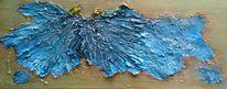 Blau, Engel, Marmormehl, Gold