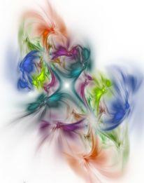 Farben, Hoffnung, Digital, Blüte