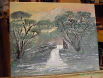 Heide, Natur, Boom, Malerei