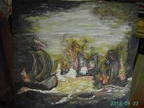 Malerei, Zeeslag, Wasser, Zee