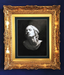 Skulptur, Kohlezeichnung, Frau, Portrait