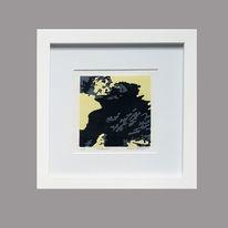 Linolschnitt, Abstrakt, Kleines format, Farbholzschnitt