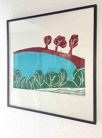 Eifel, Rot, Natur, Holzschnitt