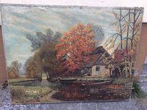Moor, Ölmalerei, Malerei, Pinnwand
