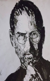 Portrait, Steve jobs, Copic, Marker