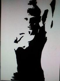 Portrait, Zeichnung, Figural, Ausdruck