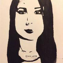 Schwarz, Menschen, Portrait, Malerei