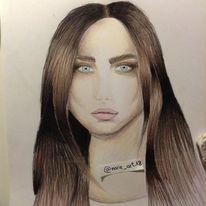 Menschen, Augen, Lippen, Zeichnung