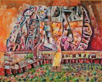 Figur, Traum, Menschen, Orange