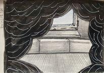 Fenster, Schwarz weiß, Haus, Sehen