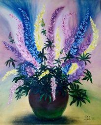 Gelb, Bunt, Blumen, Lila