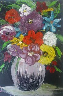 Blumen, Vase, Bunt, Strauß