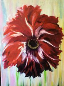 Rot, Blumen, Nelke, Malerei