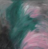 Grün, Rosa, Grau, Malerei