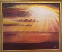 Meer braun, Malerei, Ölmalerei, Sonne