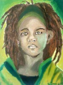 Junge, Dreadlocks, Portrait, Menschen
