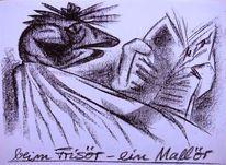 Lesen, Frisur, Karikatur, Friseur