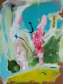 Acrylmalerei, Malerei, Farben, Abstrakt